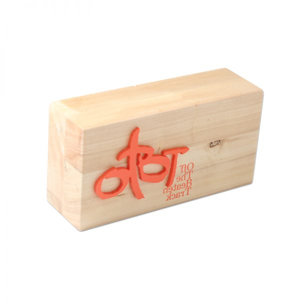 wooden sign logo