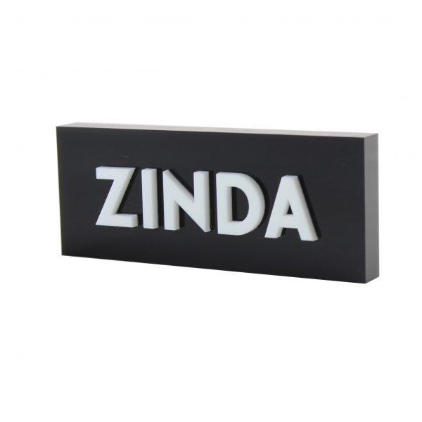 Engraved Acrylic Logo Sign