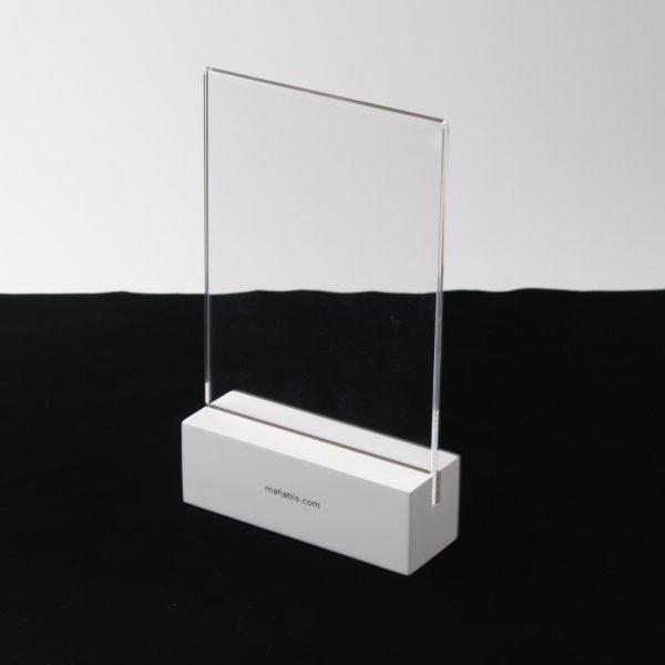acrylic wood base sign holder